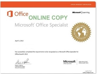 MOS 03 - Microsoft Certified Application Specialist Excel